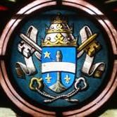 Léon XIII (pape de 1878 à 1903 par ses armoiries , une représentation fréquente dans nos églises de Gironde.